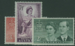 AUS SG272-4 Royal Visit 1954 set of 3